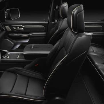 2019 Ram 1500 Interior Black Leather Seats