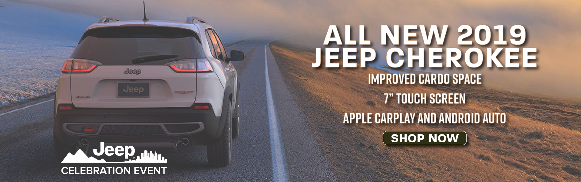 All New 2019 Jeep Cherokee Banner