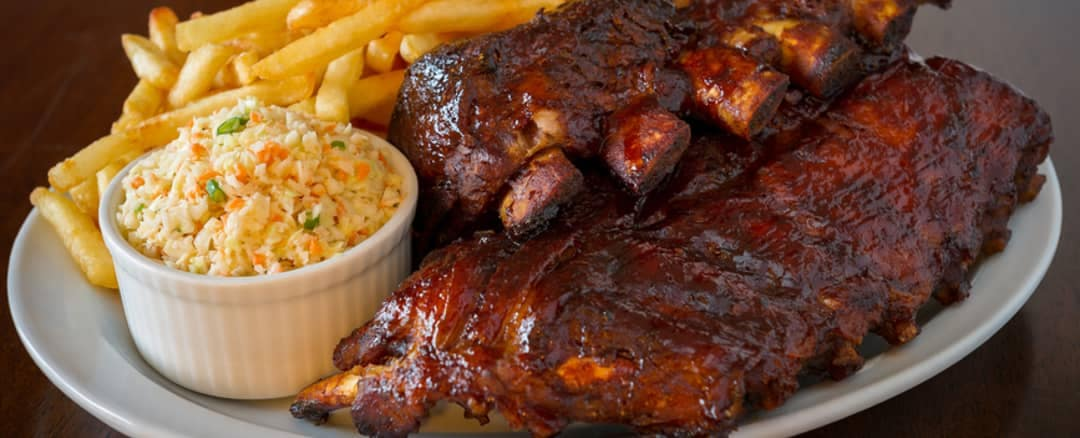 smoked ribs meal