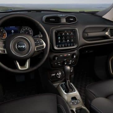 interior dashboard of 2018 Jeep Renegade
