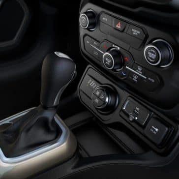 center console of 2018 Jeep Renegade
