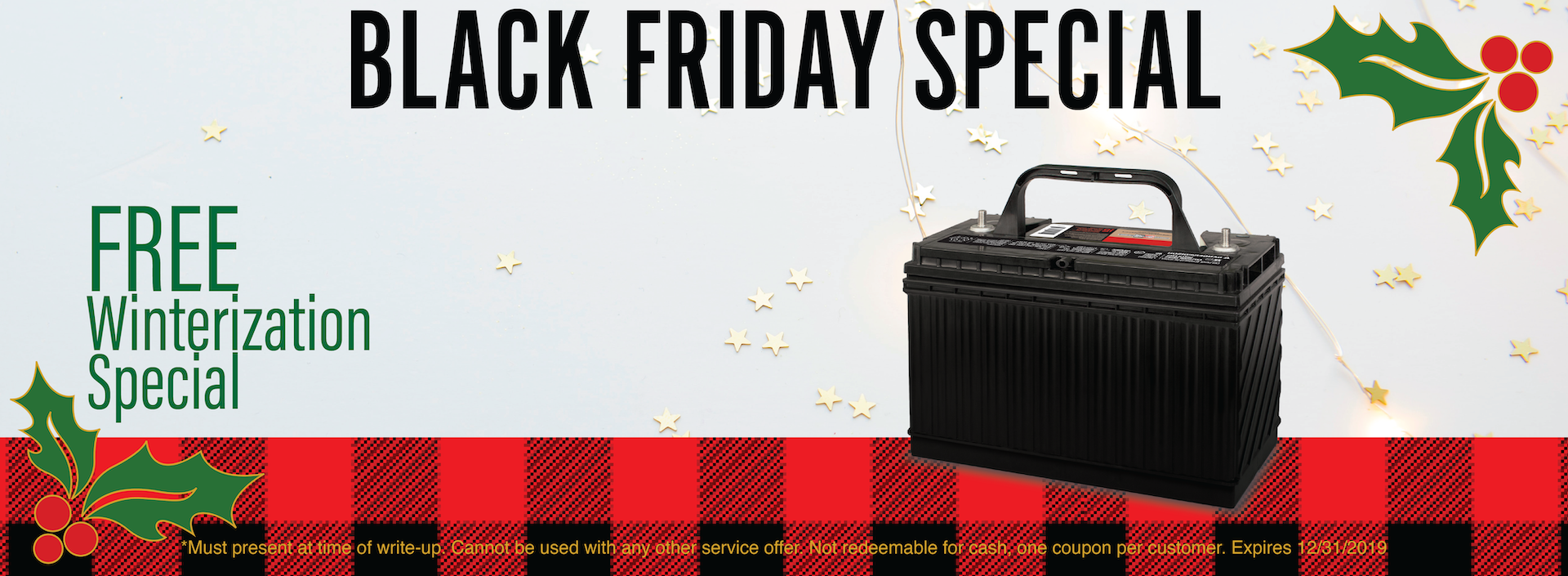Black Friday Winterization Special