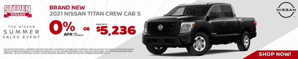 2021 Nissan Titan Crew Cab 4x4 S