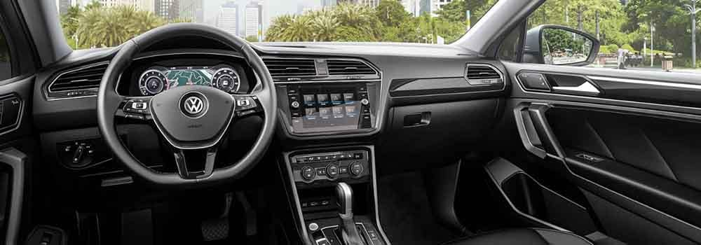 the redesigned 2018 volkswagen tiguan interior at sunrise. Black Bedroom Furniture Sets. Home Design Ideas