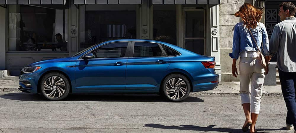 2019 Volkswagen Jetta Parked on Side of Street