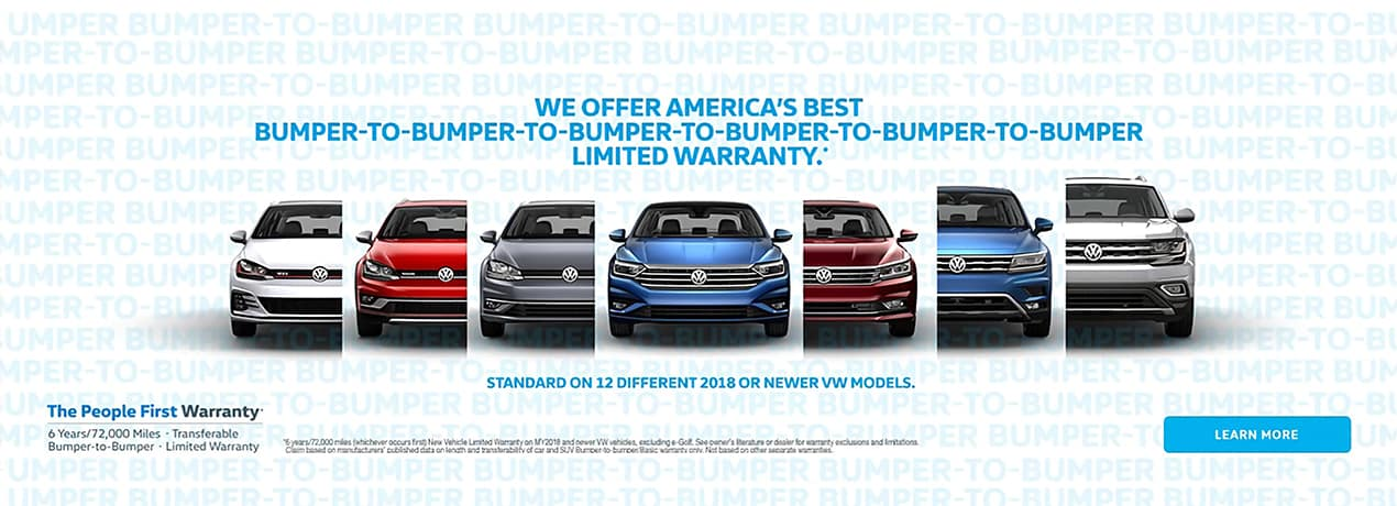 VW warrenty homepage banner
