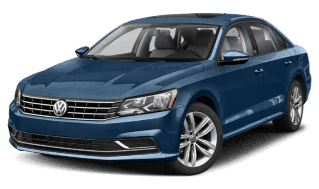 Navy Blue Volkswagen Passat