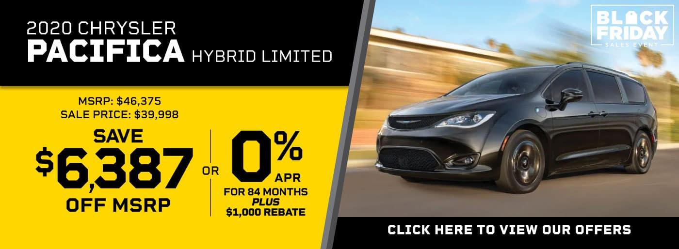 2020 Chrysler Pacifica Hybrid Van MSRP $46,375 Sale Price $39,998