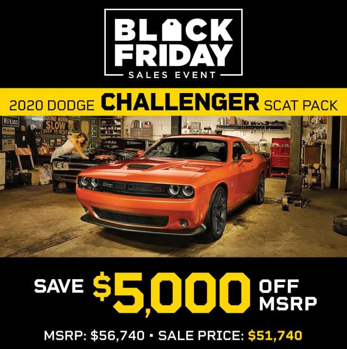 2020 Dodge Challenger Scat Pack MSRP $56,740 Sale Price $51,740