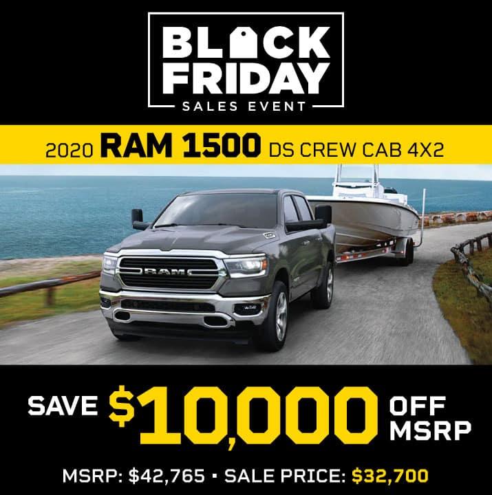 2020 Ram 1500 DS Crew Cab 4x2 MSRP $42,765 Sale Price $32,700