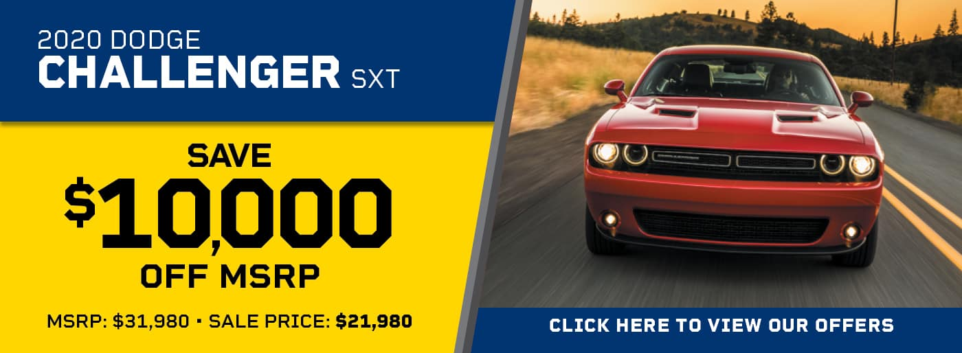 2020 Dodge Challenger SXT, $10,000 off MSRP