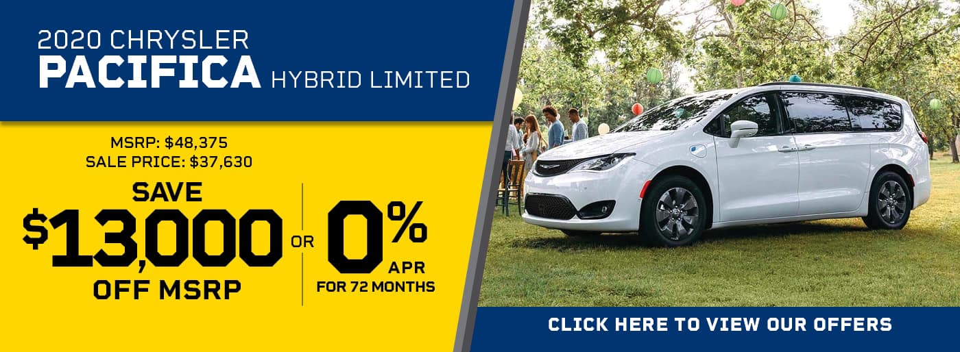 2020 Chrysler Pacifica Limited Hybrid Van 0% APR
