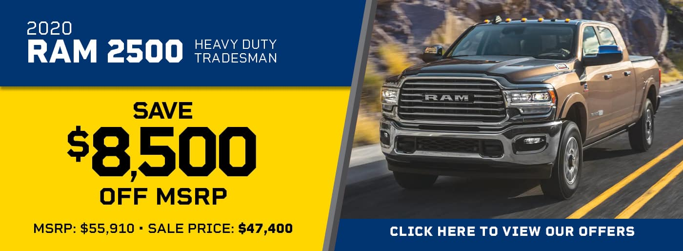 2020 Ram 2500 Heavy Duty Tradesman  $8,500 OFF MSRP