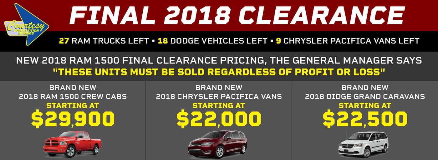 2018 Final Clearance