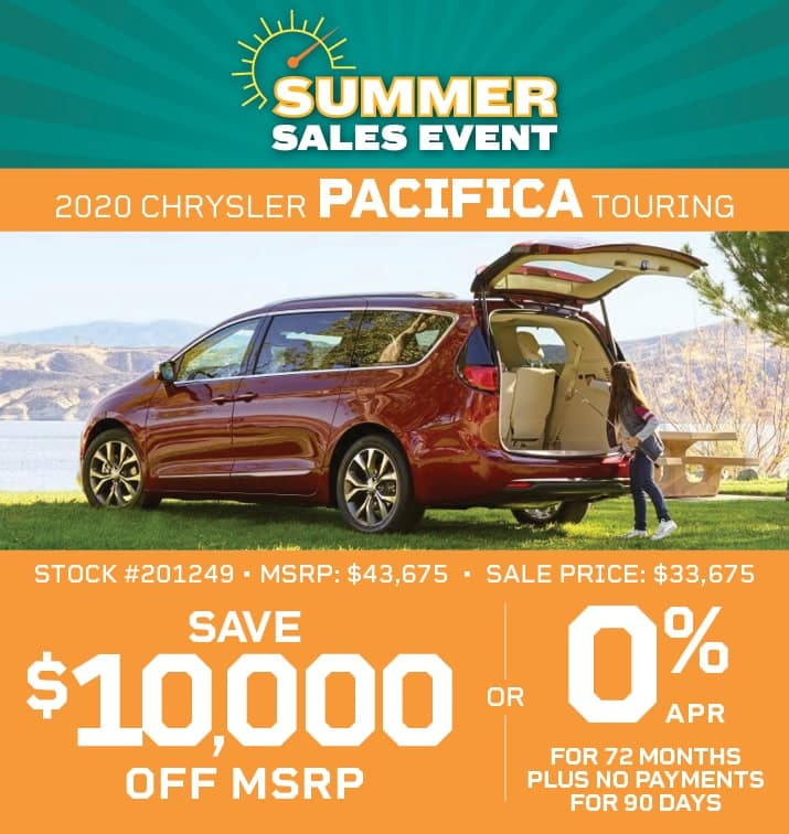 PACIFICA TOURING 0% APR FOR 72/MO