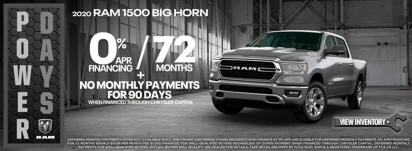 RAM 1500 0% APR for 72 months