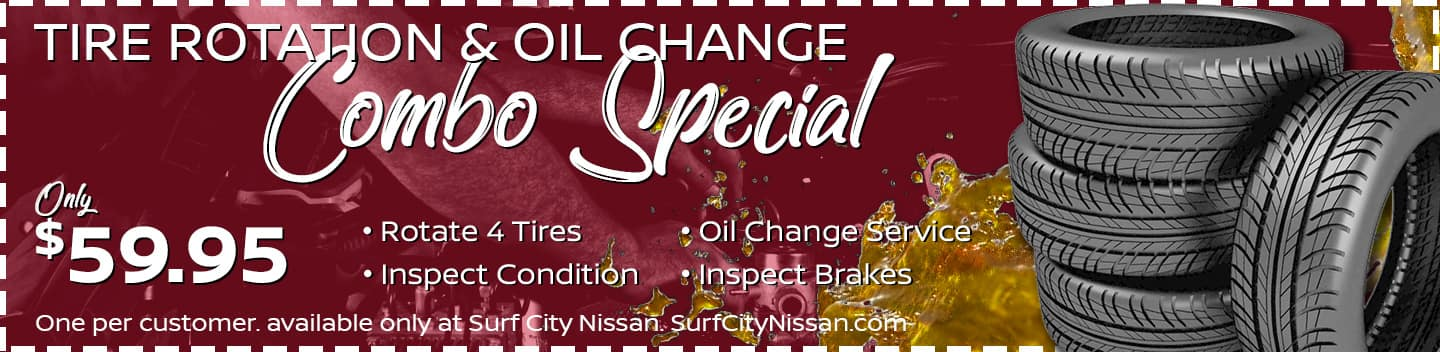 Tire Rotation & Oil Change Service Special at Huntington Beach Nissan dealership