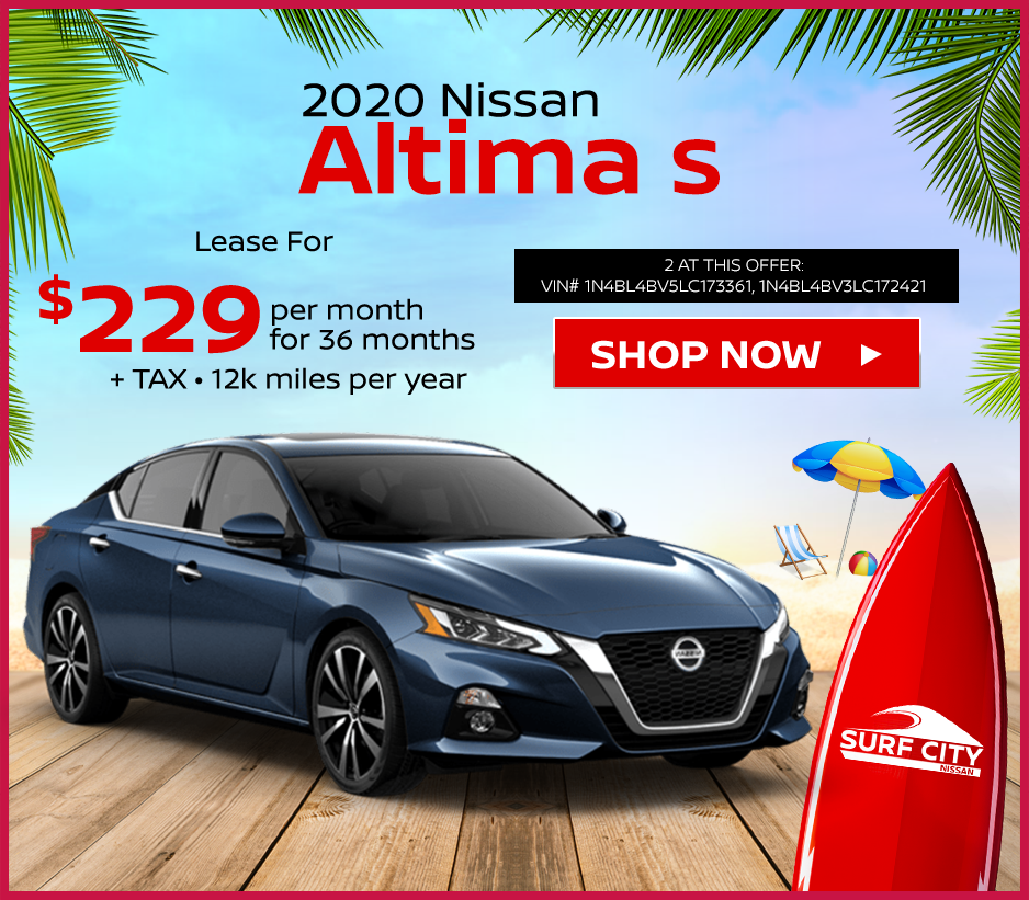 new 2020 Nissan Altima lease deals at Huntington Beach Nissan dealership near Newport Beach