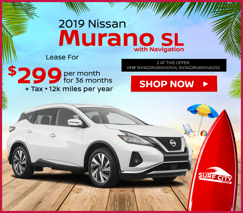 new 2019 Nissan Murano lease deals at Huntington Beach Nissan dealership near Newport Beach