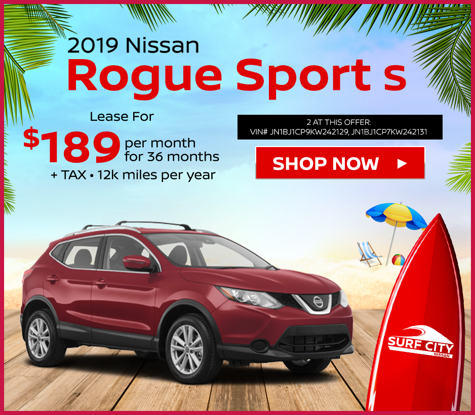 new 2019 Nissan Rogue Sport lease deals at Huntington Beach Nissan dealership near Newport Beach