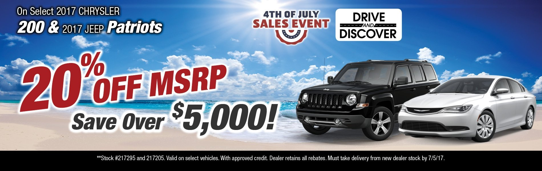 2017 Chrysler and Jeep Patriot Special available at Thomson Chrysler Jeep in Thomson, GA