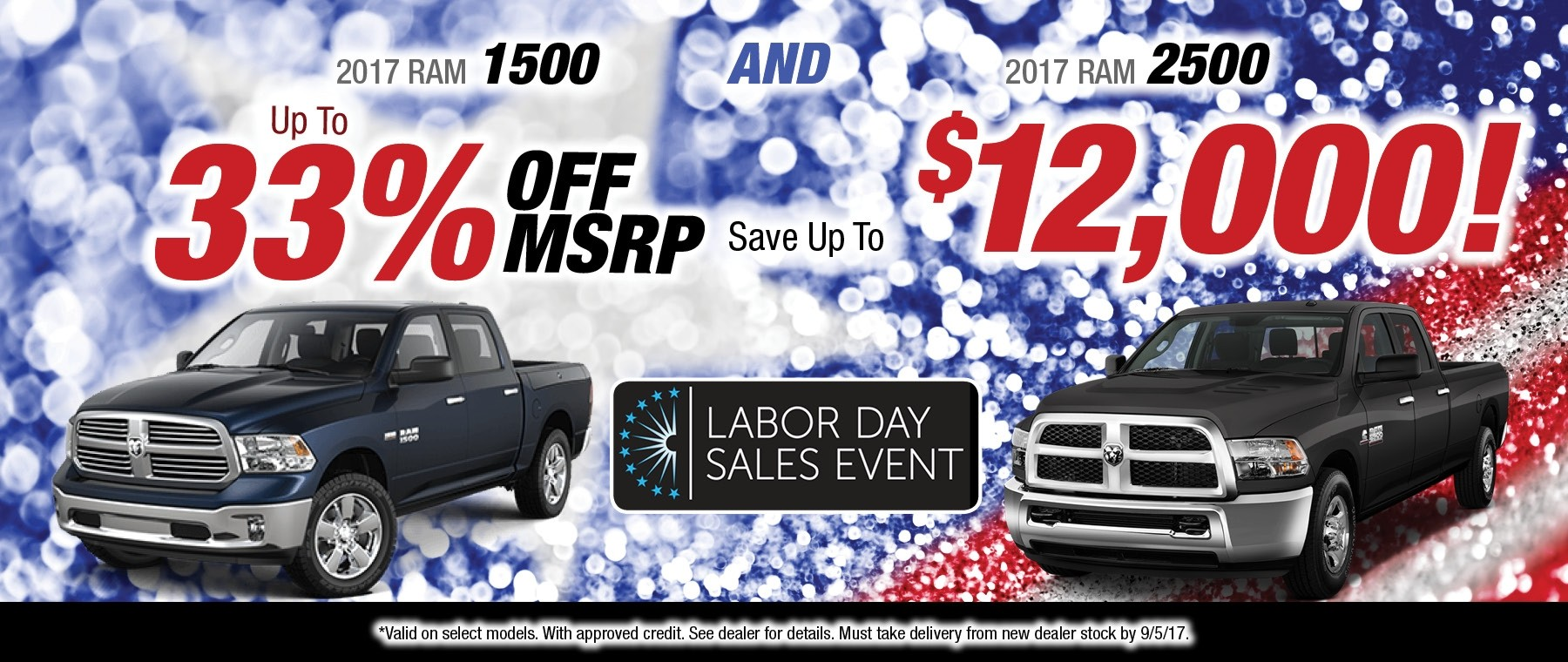 2017 RAM 1500 and 2500 Special available at Thomson Jeep in Thomson, GA
