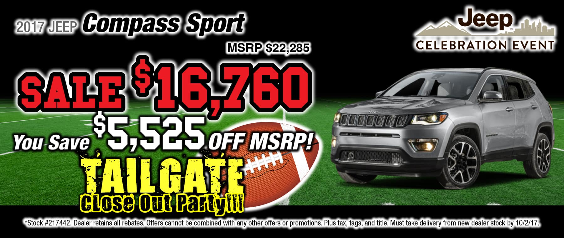 2017 Jeep Compass Sport Special at Thomson Jeep in Thomson, GA