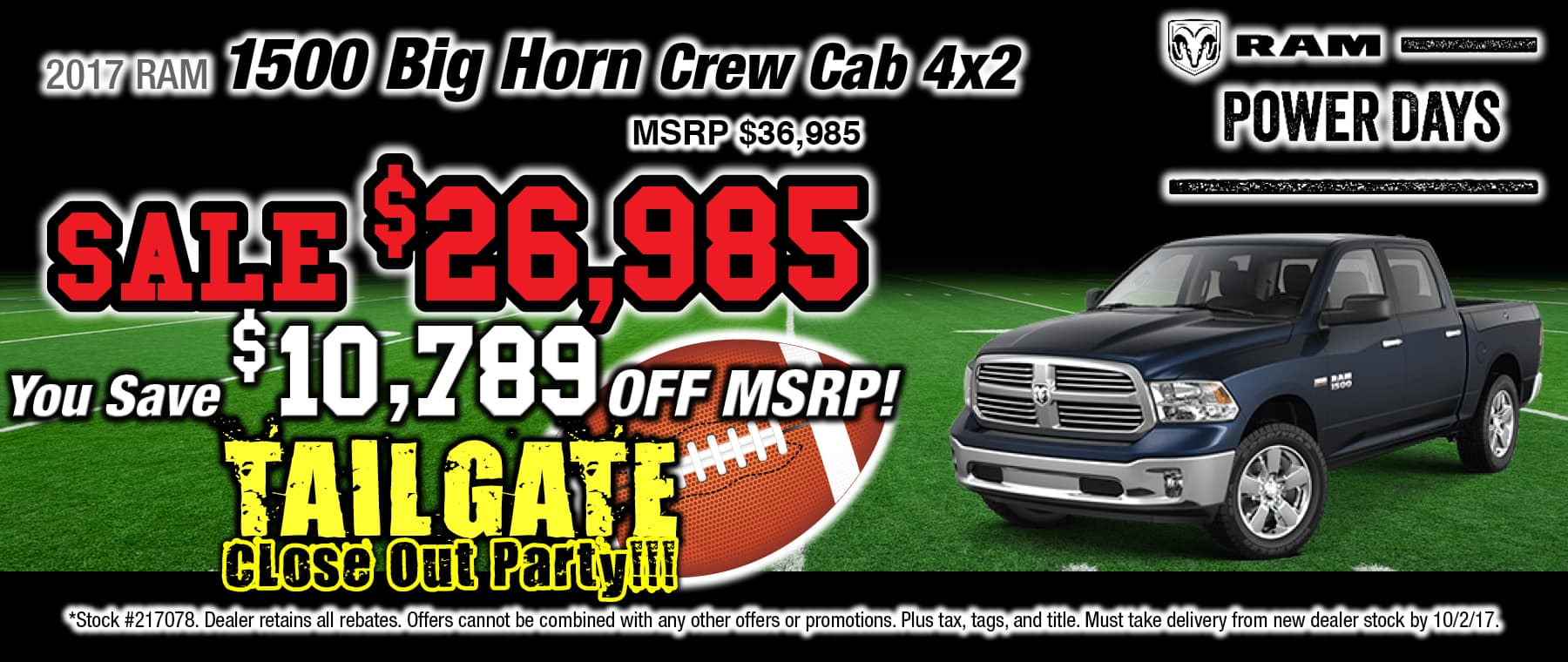 2017 RAM Big Horn Crew Cab 4x2 Special at Thomson RAM in Thomson, GA