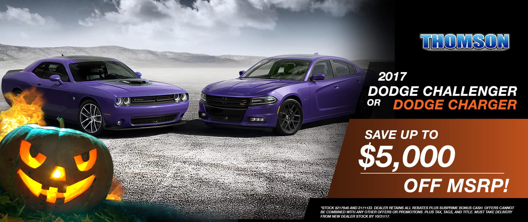 2017 Challenger or Dodge Charger Special at Thomson Dodge in Thomson, GA