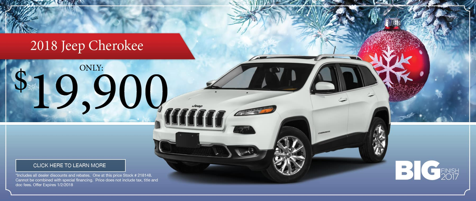 2018 Jeep Cherokee Special in Thomson, GA