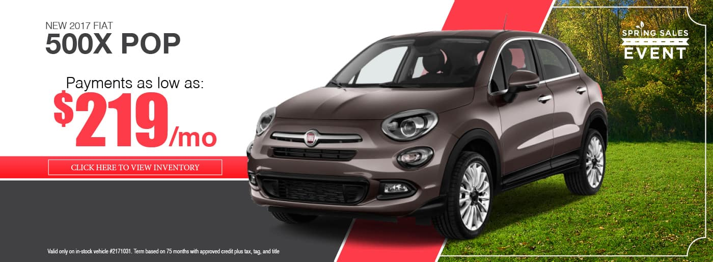 2017 FIAT 500X POP Lease Special available at Thomson FIAT in Thomson, GA
