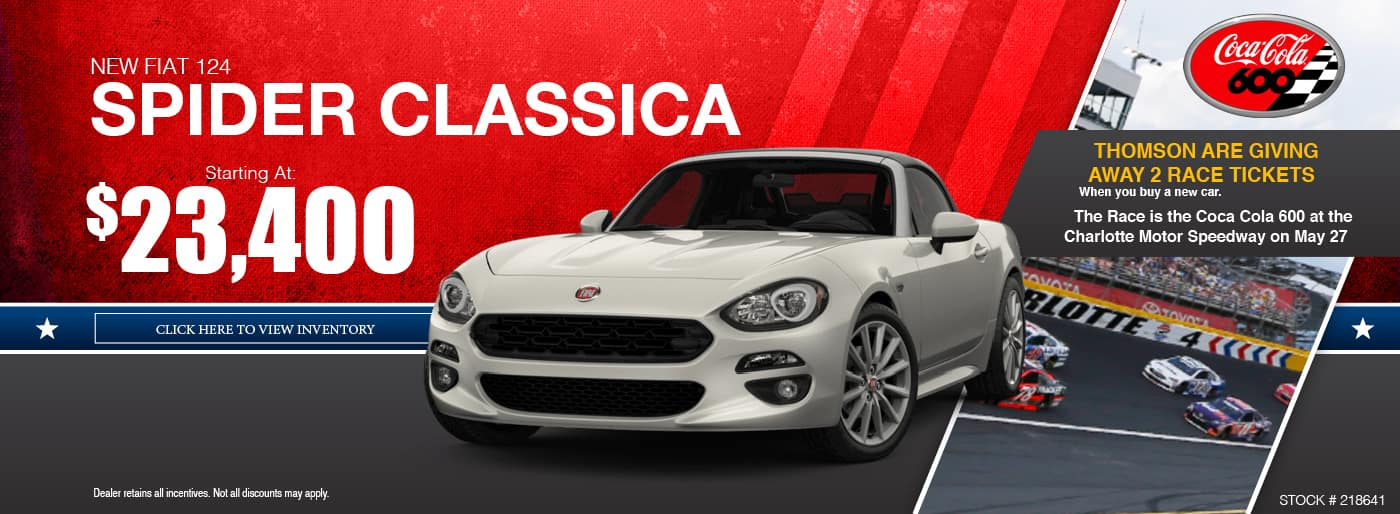 FIAT 124 Spider Special at Thomson FIAT in Thomson, GA