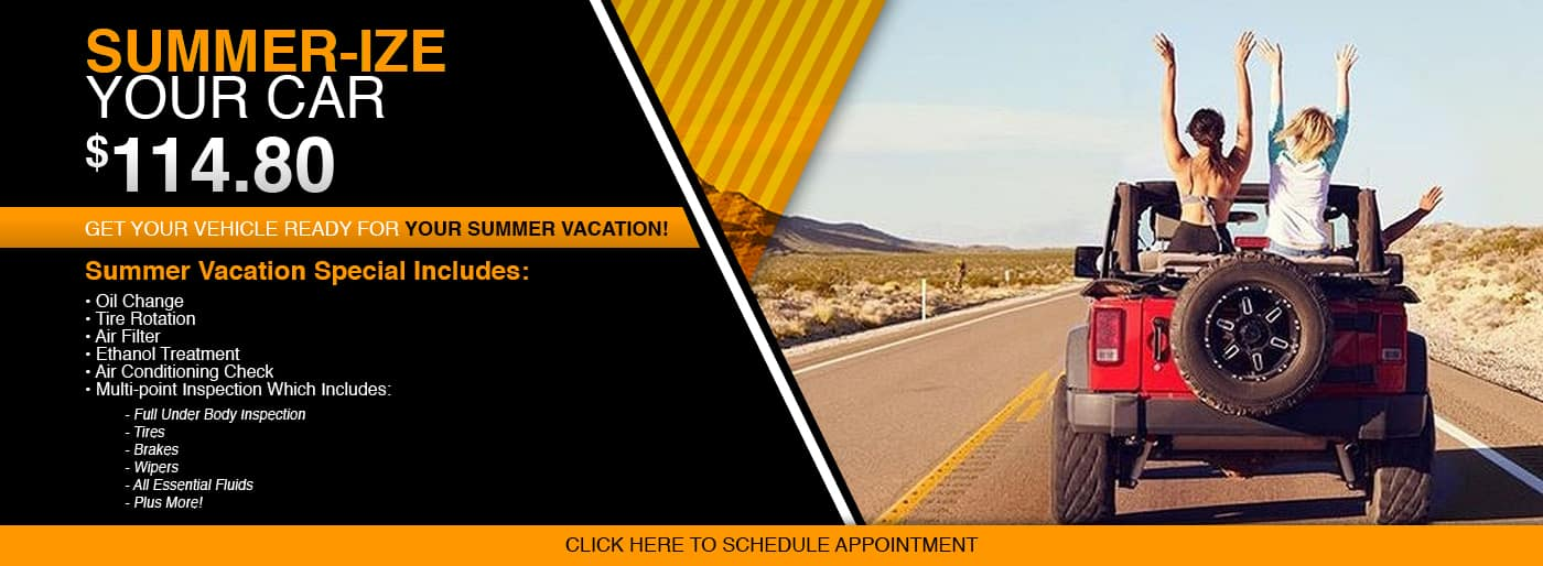 Summer Vacation Special at Thomson Chrysler Dodge Jeep RAM in Thomson, GA