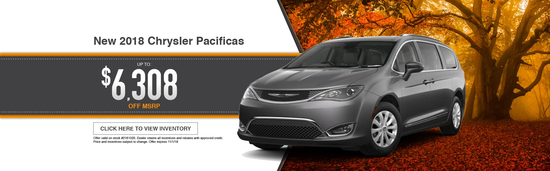 New 2018 Chrysler Pacifica Special at Thomson Chrysler in Thomson, GA