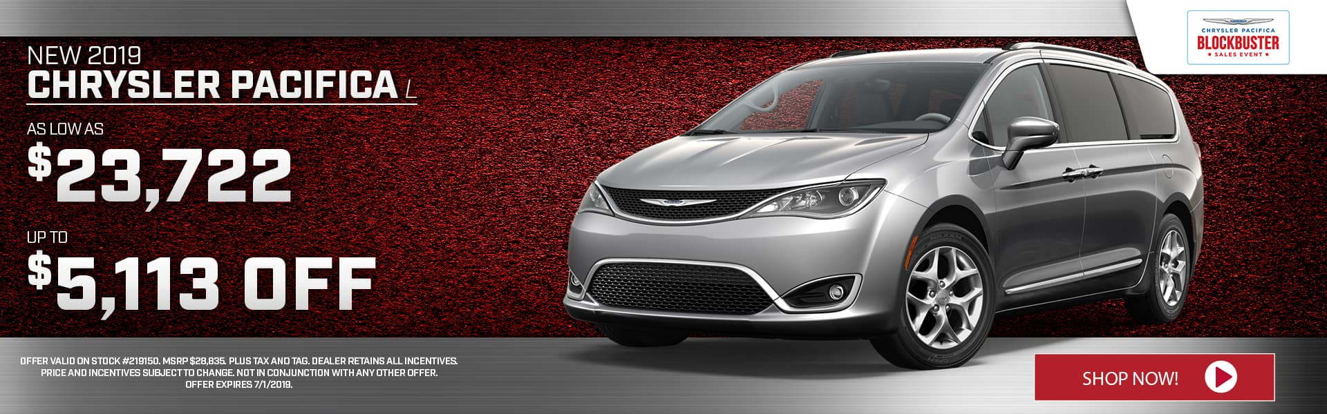 New 2019 Chrysler Pacifica Special at Thomson Chrysler in Thomson, GA