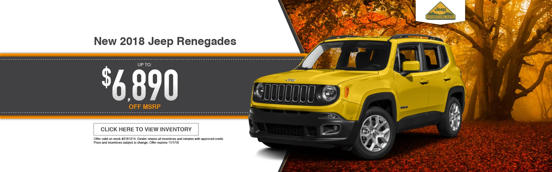New 2018 Jeep Renegade Special at Thomson Jeep in Thomson, GA