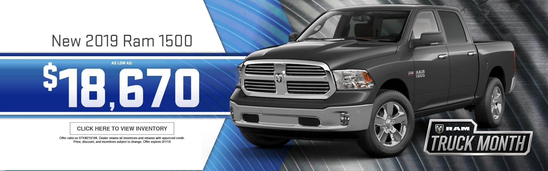 2019 RAM 1500 Special at Thomson RAM in Thomson, GA