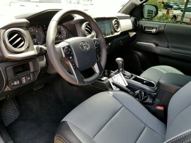 Interior of Toyota