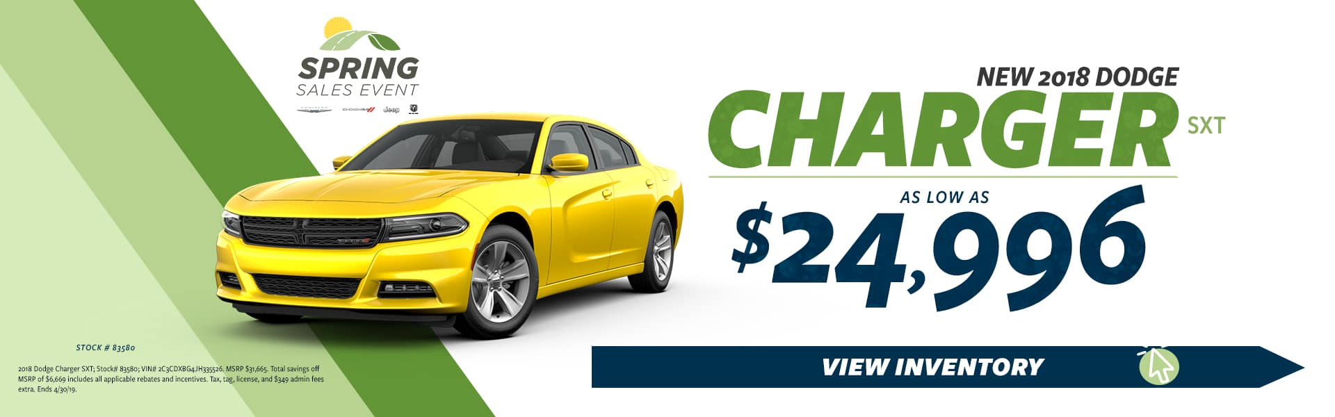 2019 Charger Sale
