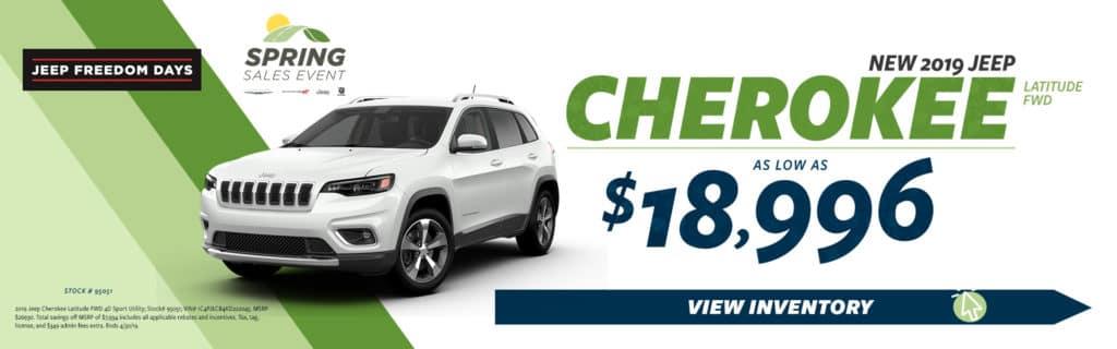 2019 Cherokee Sale
