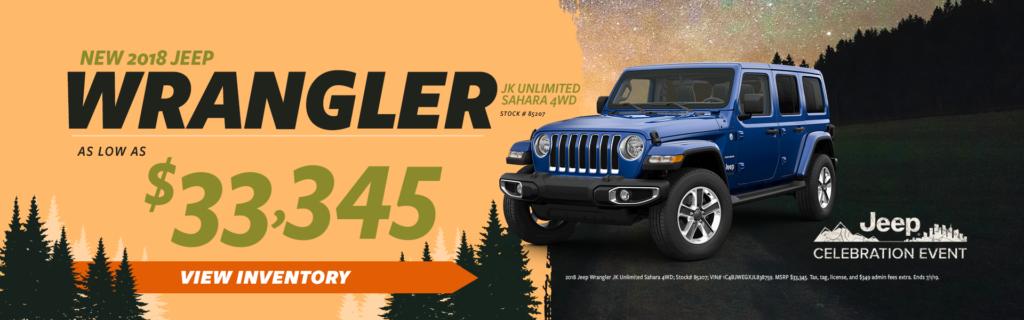 2018 Jeep Wrangler Sale