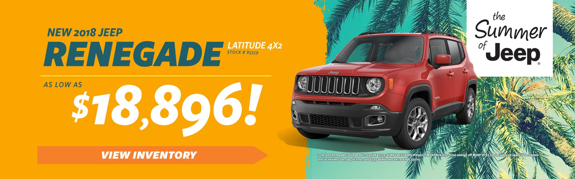 New 2018 Jeep Renegade!