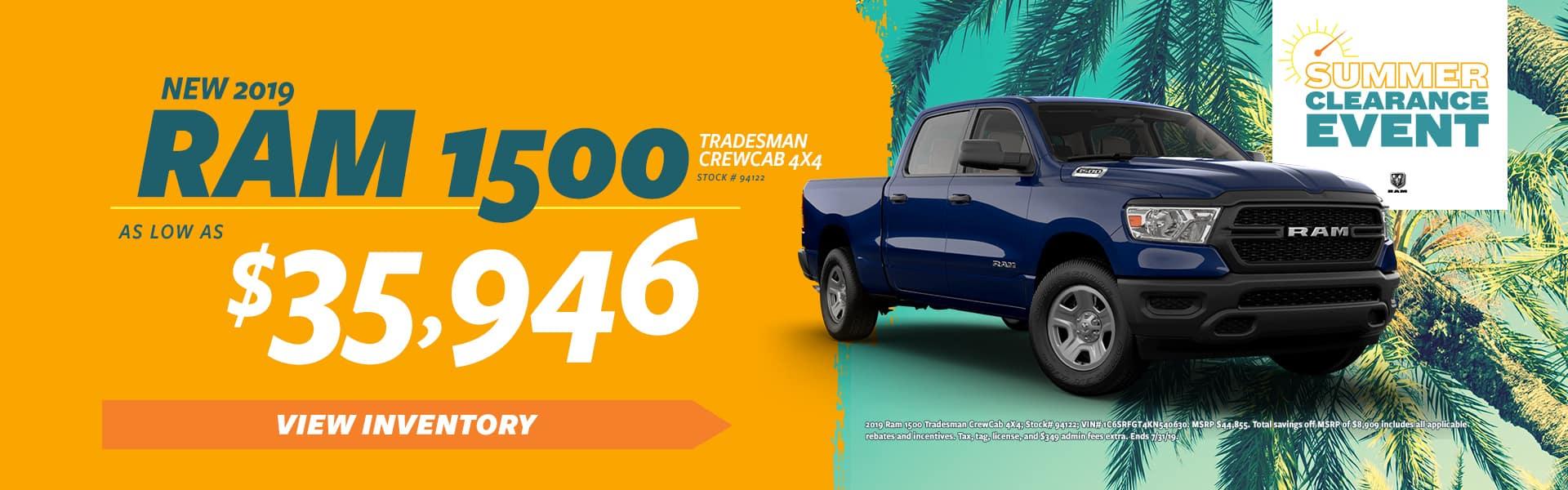 New 2019 Ram 1500!