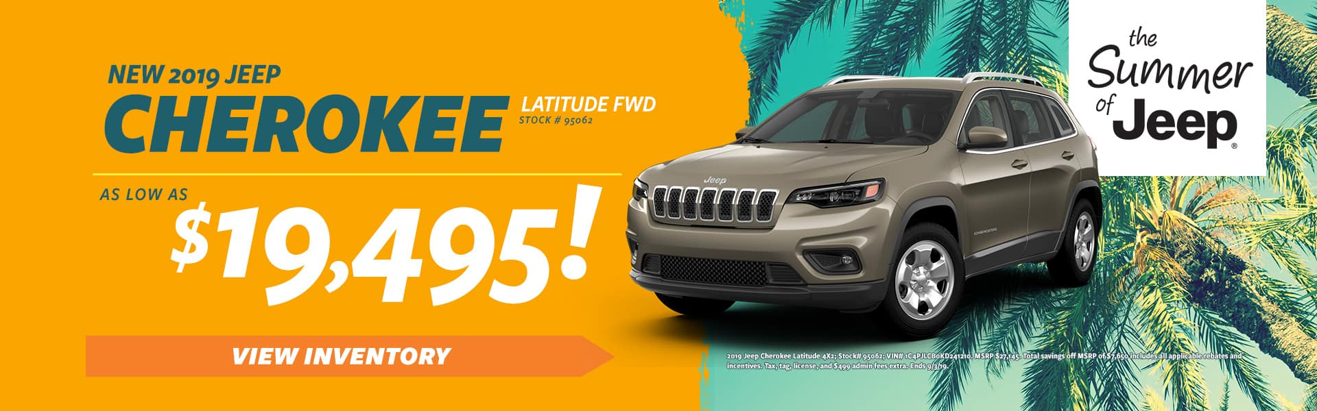 2019 Cherokee for Sale in Eden NC