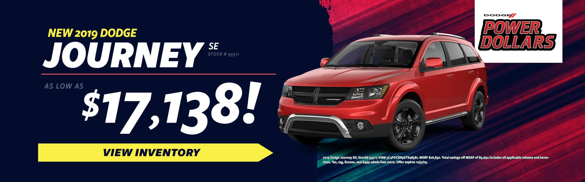 2020 Dodge Journey Sale in  Eden, NC