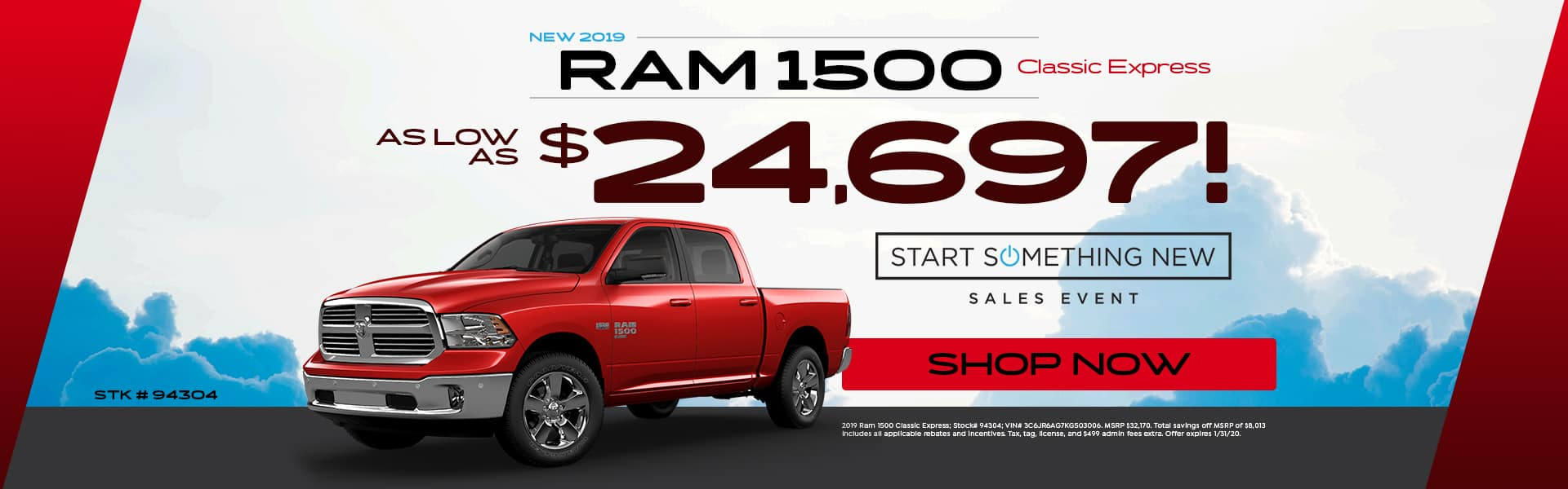 New 2019 Ram 1500 Classic Express - As Low As $24,697!