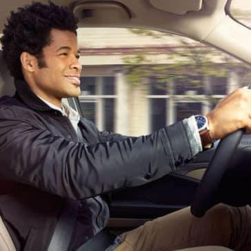 Driver in Honda Pilot