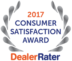 2017 Consumer Satisfaction Award 2017 Dealer Rater