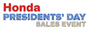 Honda Presidents' Day Sales Event Logo