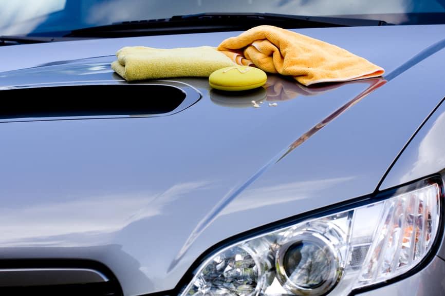 Waxing Materials On Car hood